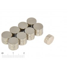 Magnesy Neodymowe 10x1,5mm (10 sztuk)