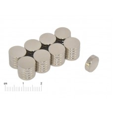 Magnesy Neodymowe 10x2mm (10 sztuk)