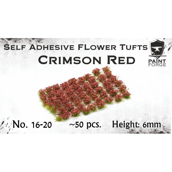 Paint Forge - Crimson Red Flowers