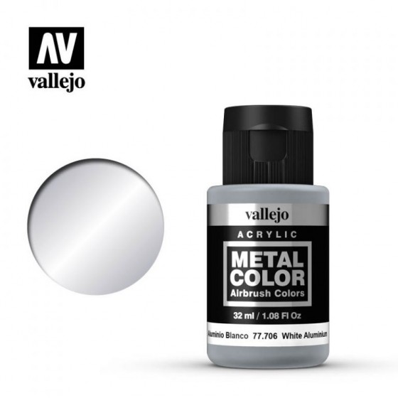 77.706 White Aluminum Vallejo Metal Color