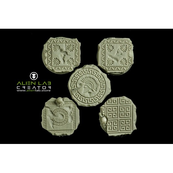 ANCIENT GREECE ROUND BASES 25MM