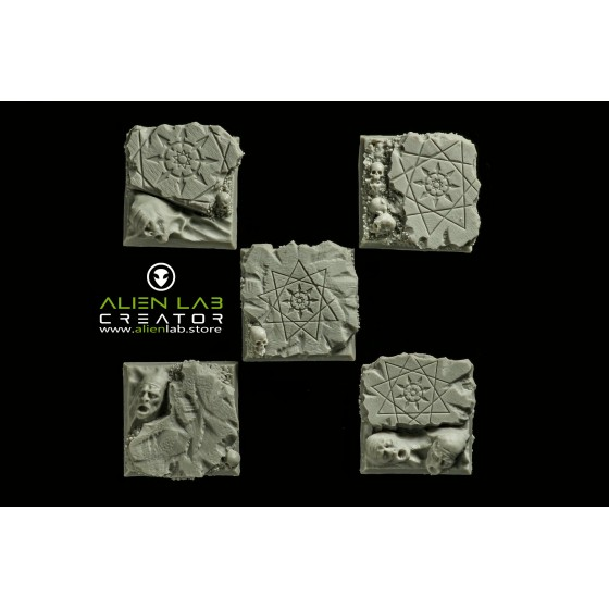 HELL RUINS SQUARE BASES 40MM