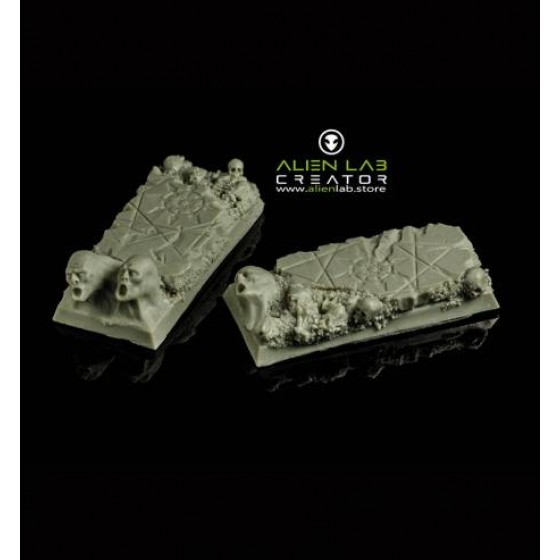 HELL RUINS 25MM / 50MM SQUARE BASES