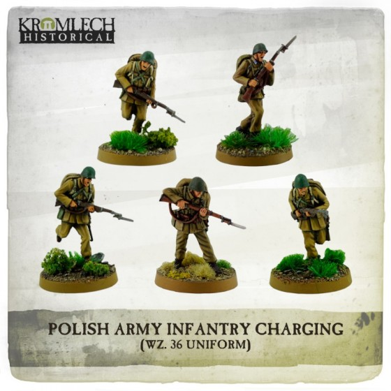 POLISH ARMY INFANTRY CHARGING (WZ. 36 UNIFORMS)